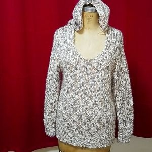 Simply Noelle hooded knitted sweater S/M (8-10)